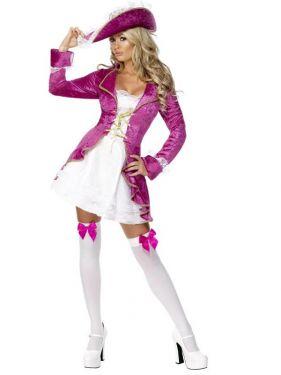 Ladies Pirates Treasure Fancy Dress Costume